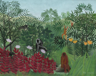 Henri Rousseau - Tropical Forest with Monkeys, 1910