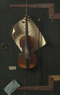 William Michael Harnett - The Old Violin,1886
