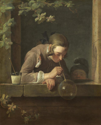 Jean Siméon Chardin - Soap Bubbles, probably 1733/1734