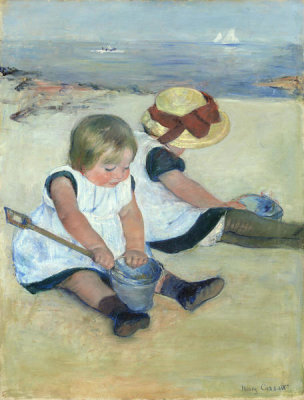 Mary Cassatt - Children Playing on the Beach, 1884