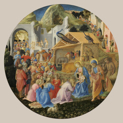 Fra Angelico and Fra Filippo Lippi - The Adoration of the Magi, c. 1440/1460