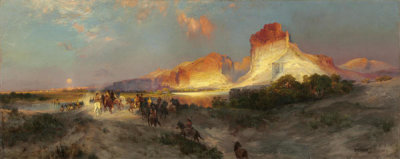 Thomas Moran - Green River Cliffs, Wyoming, 1881