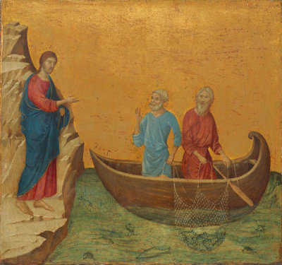 Duccio di Buoninsegna - The Calling of the Apostles Peter and Andrew, 1308-1311