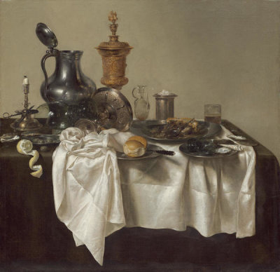 Willem Claesz Heda - Banquet Piece with Mince Pie, 1635