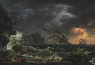 Claude-Joseph Vernet - The Shipwreck, 1772