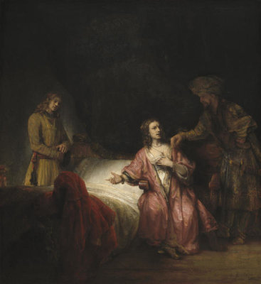 Rembrandt Workshop - Joseph Accused by Potiphar's Wife, 1655