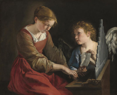 Orazio Gentileschi and Giovanni Lanfranco - Saint Cecilia and an Angel, c. 1617/1618 and c. 1621/1627