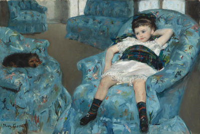 Mary Cassatt - Little Girl in a Blue Armchair, 1878
