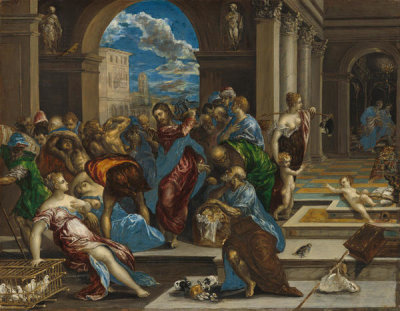 El Greco - Christ Cleansing the Temple, probably before 1570
