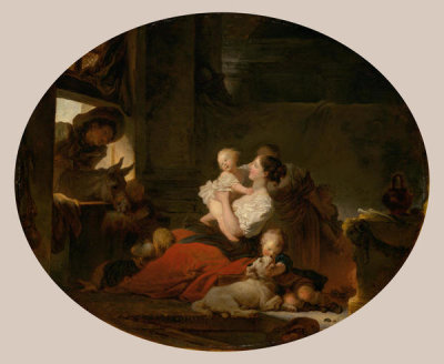 Jean-Honoré Fragonard - The Happy Family, c. 1775