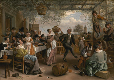Jan Steen - The Dancing Couple, 1663