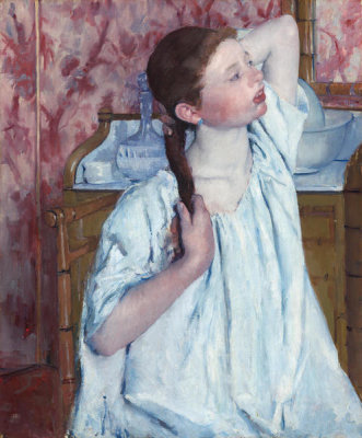Mary Cassatt - Girl Arranging Her Hair, 1886