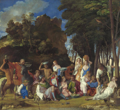 Giovanni Bellini - The Feast of the Gods, 1514/1529