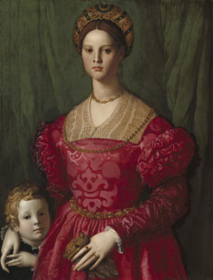 Agnolo Bronzino - A Young Woman and Her Little Boy, c. 1540
