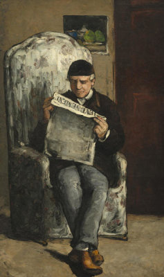 Paul Cézanne - The Artist's Father, Reading