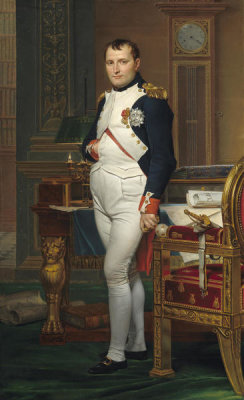 Jacques-Louis David - The Emperor Napoleon in His Study at the Tuileries, 1812