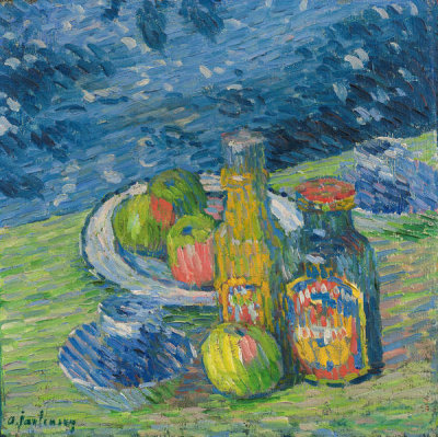 Alexej von Jawlensky - Still Life with Bottles and Fruit, 1900