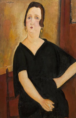 Amedeo Modigliani - Madame Amédée (Woman with Cigarette), 1918