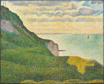 Georges Seurat - Seascape at Port-en-Bessin, Normandy, 1888
