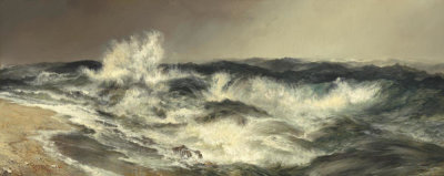 Thomas Moran - The Much Resounding Sea, 1884