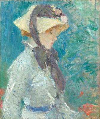 Berthe Morisot - Young Woman with a Straw Hat, 1884