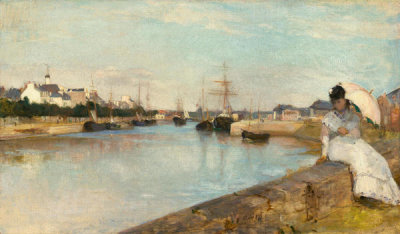 Berthe Morisot - The Harbor at Lorient, 1869