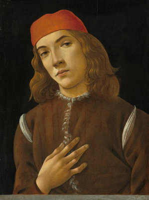 Sandro Botticelli - Portrait of a Youth, c. 1482/1485
