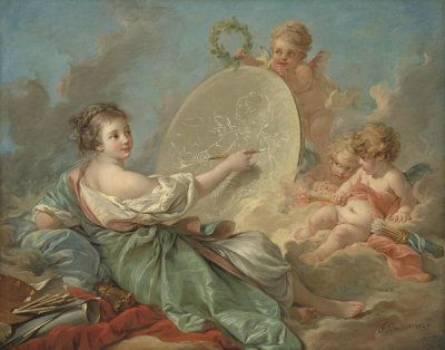 François Boucher - Allegory of Painting, 1765