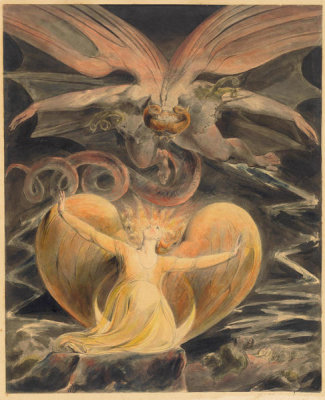 William Blake - The Great Red Dragon and the Woman Clothed with the Sun, c. 1805