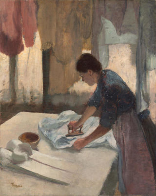 Edgar Degas - Woman Ironing, begun c. 1876, completed c. 1887