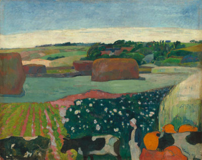 Paul Gauguin - Haystacks in Brittany, 1890
