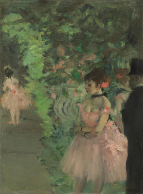 Edgar Degas - Dancers Backstage, 1876/1883