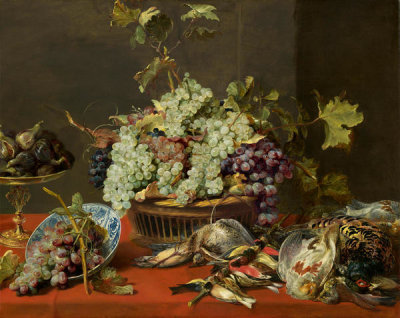 Frans Snyders - Still Life with Grapes and Game, c. 1630