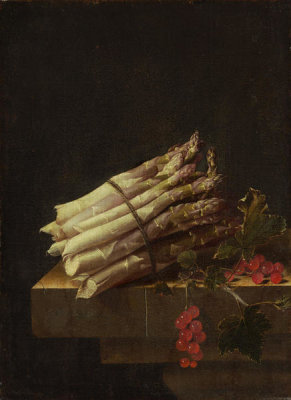 Adriaen Coorte - Still Life with Asparagus and Red Currants, 1696