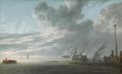 Simon de Vlieger - Estuary at Day's End, c. 1640/1645