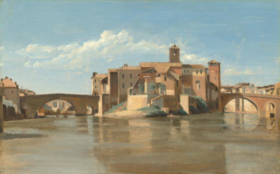 Jean-Baptiste-Camille Corot - The Island and Bridge of San Bartolomeo, Rome, 1825/1828