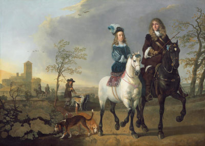 Aelbert Cuyp - Lady and Gentleman on Horseback, c. 1655